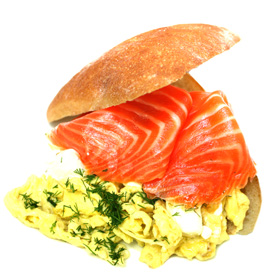 Ocean Trout Gravlax with Herbed Scrambled Eggs